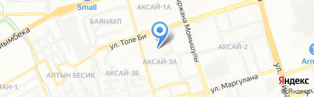 Ясли-сад №62 на карте Алматы
