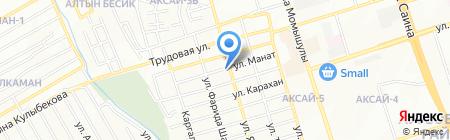 Ават на карте Алматы