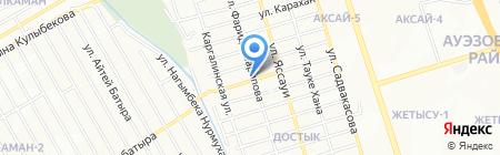 Дияр на карте Алматы