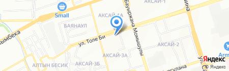 Атлант на карте Алматы
