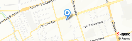 Мастерская по ремонту обуви на ул. Аксай 3а микрорайон на карте Алматы