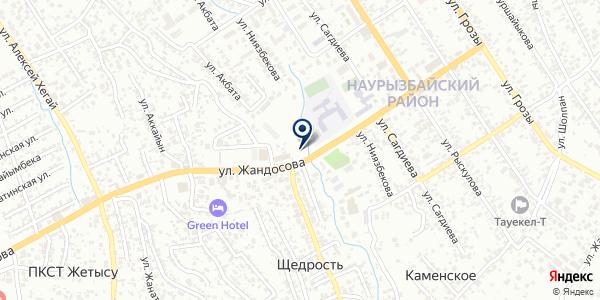 Магазин канцелярских и хозяйственных товаров на карте Таусамалы