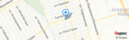 Городская поликлиника №15 на карте Алматы