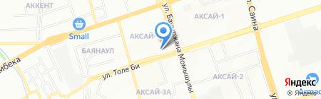 Нотариус Ибраев А.Н. на карте Алматы