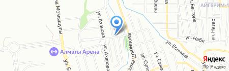 Фариза на карте Алматы