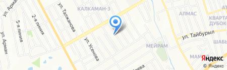 Мамино счастье на карте Алматы