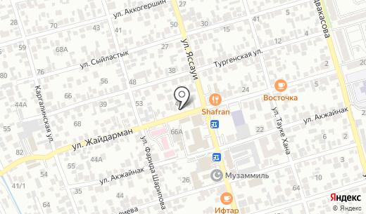 Rapunsel. Схема проезда в Алматы