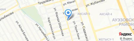 Турпан на карте Алматы