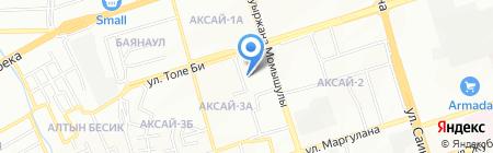Адiна на карте Алматы