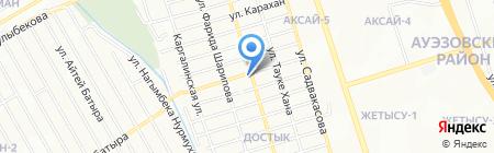 Нурлы на карте Алматы