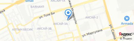 Университет Алматы на карте Алматы