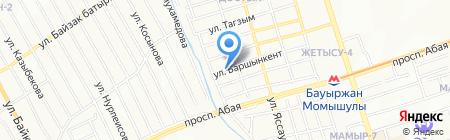 Орхидея продовольственный магазин на карте Алматы