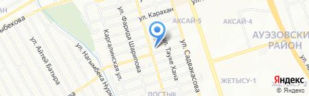 Почтовое отделение связи №25 на карте Алматы
