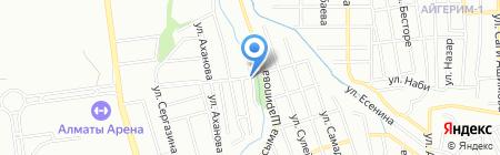 Алибай на карте Алматы