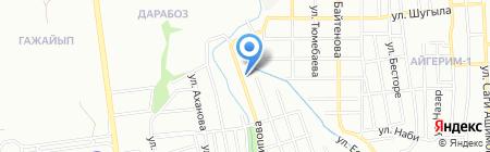 Айдана продуктовый магазин на карте Алматы