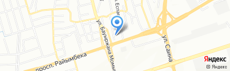 Продовольственный магазин на ул. Дауренбекова на карте Алматы