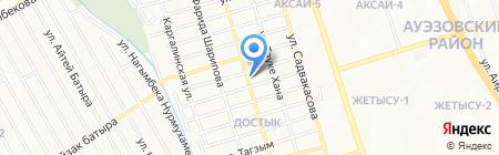Столовая на Школьной на карте Алматы