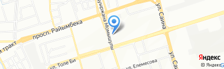 Настя на карте Алматы