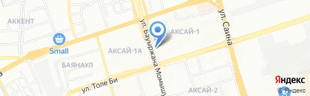Баян Сулу на карте Алматы