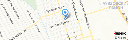 Абай на карте Алматы