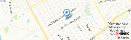 Продовольственный магазин на ул. Маулена Балакаева на карте Алматы