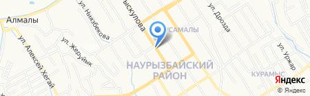 Фотосалон на ул. Рыскулова на карте Алматы