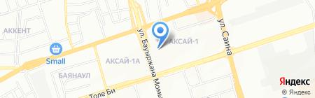 Автостоянка на ул. Аксай 1-й микрорайон на карте Алматы
