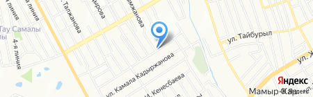 Айдос на карте Алматы