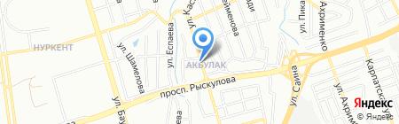 Акбулак на карте Алматы