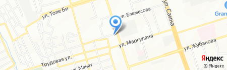 Нотариус Жынисбекова С.А. на карте Алматы