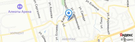 Алинур на карте Алматы