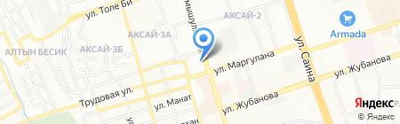 Бекзат продуктовый магазин на карте Алматы