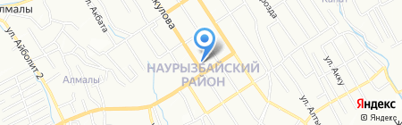 Лагманхана на ул. Рыскулова на карте Алматы
