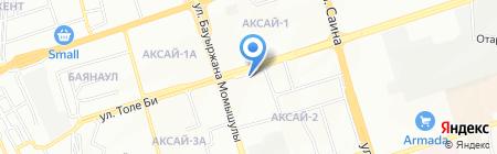 Нотариус Мусина Б.О. на карте Алматы