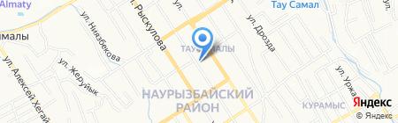 Таусамалы на карте Алматы