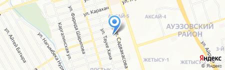 Сабина на карте Алматы