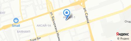 Бутон на карте Алматы
