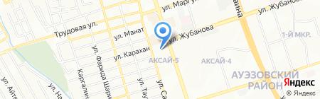 Аксай-Монолит на карте Алматы