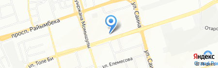 Рысбике на карте Алматы