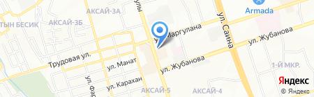 Шиномонтажная матерская на ул. Аксай 4-й микрорайон на карте Алматы