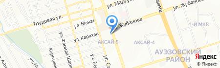 Аксай на карте Алматы