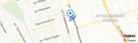 Ясли-сад №34 на карте Алматы