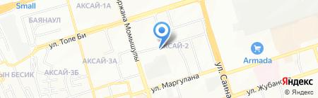 Береке на карте Алматы