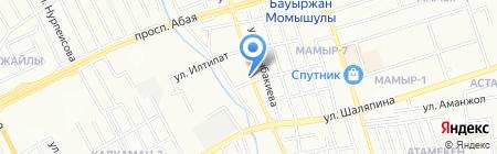 Или на карте Алматы