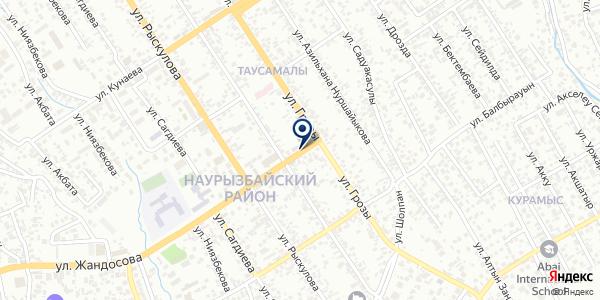 Нотариус Рахимбекова А.А. на карте Таусамалы