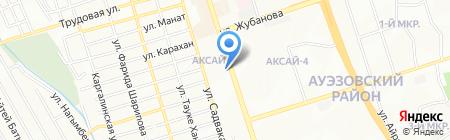 Бек на карте Алматы