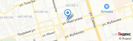 Акнур на карте Алматы