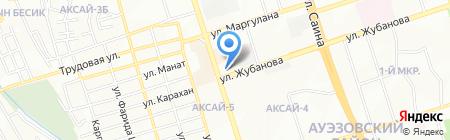 Рахат на карте Алматы