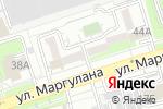 Схема проезда до компании Акнур в Алматы