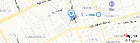 ТЕС на карте Алматы